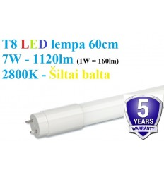 60cm - T8 LED lempa - 7W - 1120lm - 2800K