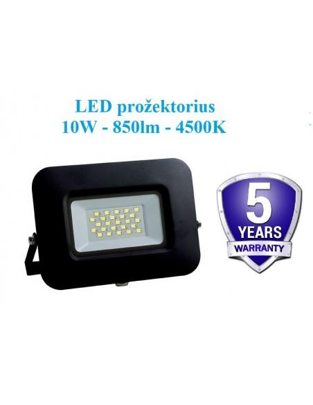 LED prožektorius 10W - 4500K - GARANTIJA 5m