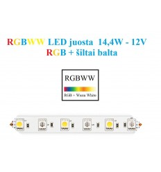 RGBW LED juosta 5050 - 60 SMD/m - IP20