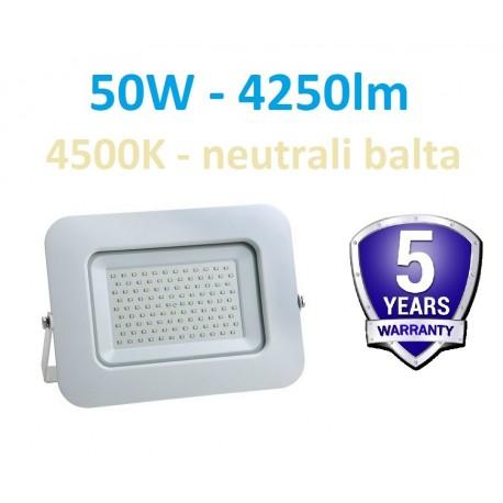 LED prožektorius 50W - 4500K - Garantija 5m