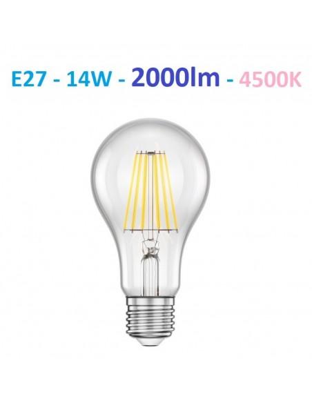 E27 filament - 14W - 2000lm - 4500k