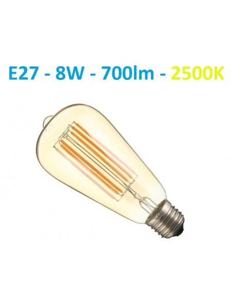 E27 filament - 8W - 700lm - ST64