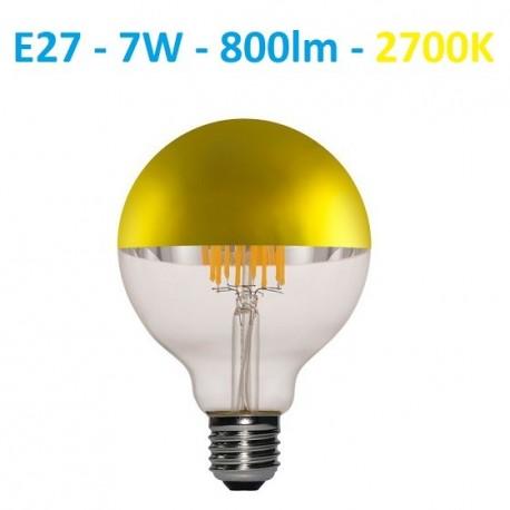 LED lemputė E27 filament half GOLD 7W