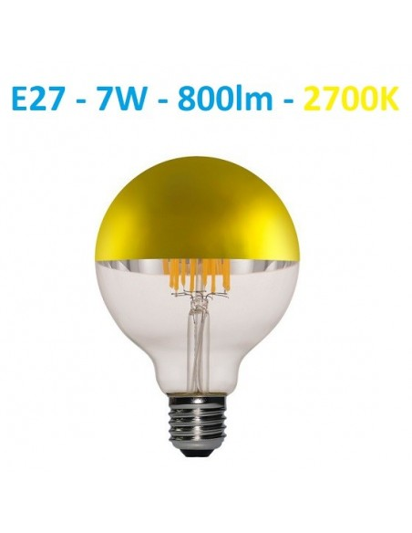 LED lemputė E27 filament half GOLD 7W - 800lm - 2700K