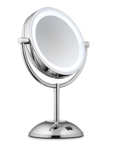 Make Up veidrodis su baterijomis ir didinimo funkcija