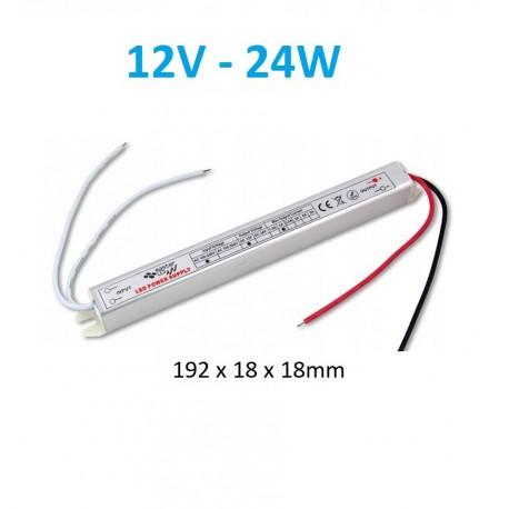 Ypač siauras 24W - 12V - LED maitinimo šaltinis