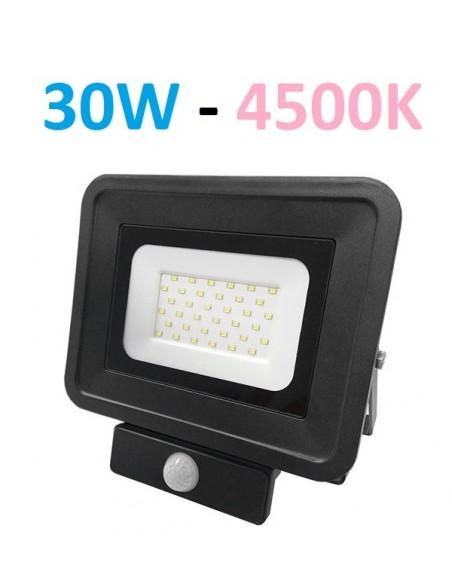 LED prožektorius 30W su judesio davikliu
