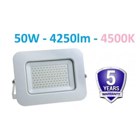 Baltas SMD LED prožektorius 50W - 4500K