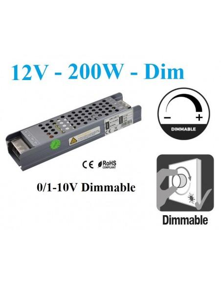 Reguliuojamas LED maitinimo šaltinis 200W - 12V