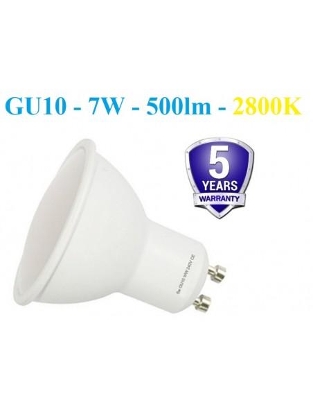 LED lemputė GU10 - 7W - 500lm