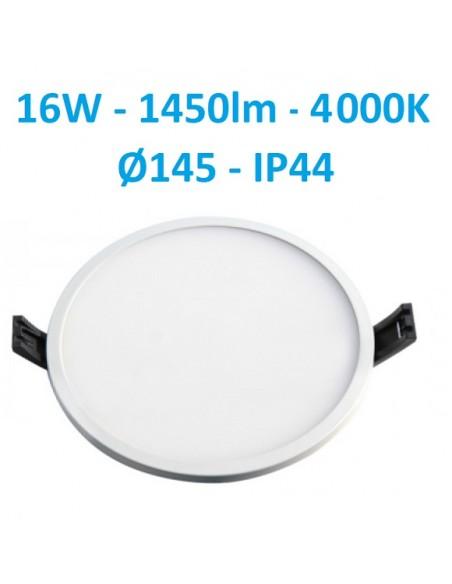 LED panelė siauru rėmeliu IP44 - 16W - 1450lm - IP44 LPSR-16WN-WQ