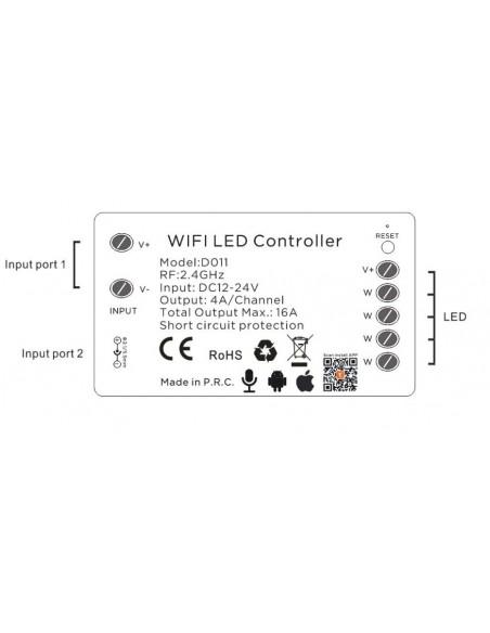 WiFi Tuya LED juostos valdiklis 4 x 4A