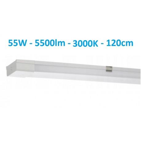 Juostinis virštinkinis LED šviestuvas 120cm - 55W - 5500W - 3000