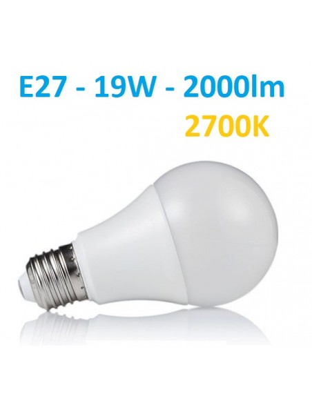 LED lemputė E27 - 19W