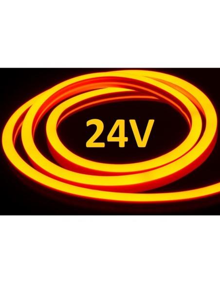 LED juosta NEON FLEX 24V - Amber - IP67