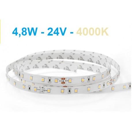 LED juosta - 4,8W - 24V - 3000K - IP20 šiltai balta