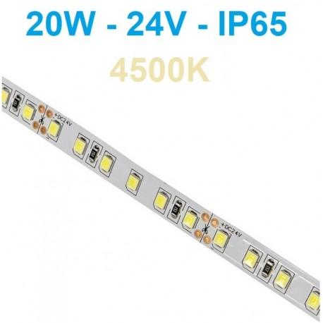 24V LED juosta 20W/m - IP65 - 120SMD/m - 4000K - 5 metrai