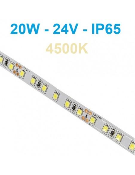 24V LED juosta 20W/m - IP65 - 120SMD/m - 4000K