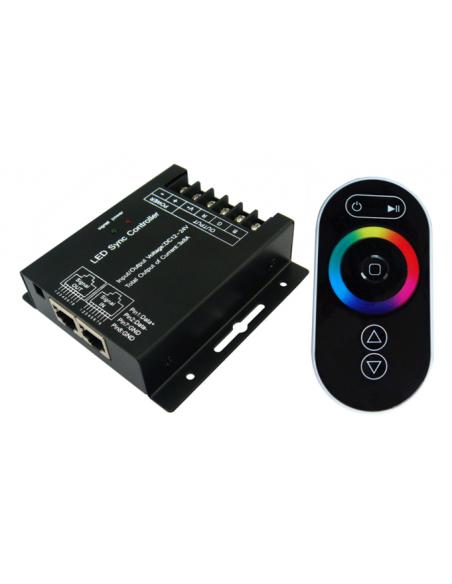 RGB-W juostelės valdymo pultas - 4 x 8A LUX