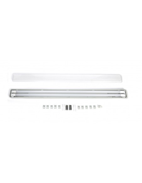 T8 hermetinis šviestuvas 150cm + 2 x LED T8 lempos 4200K - IP65