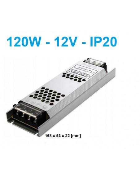 120W - 12V - LED maitinimo šaltinis SLIM