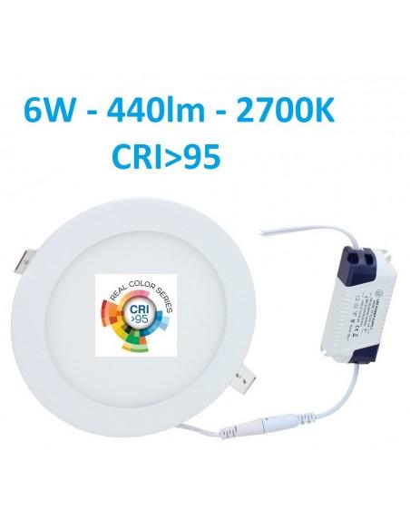 Įleidžiama LED panelė - 6W - 2700K CRI95