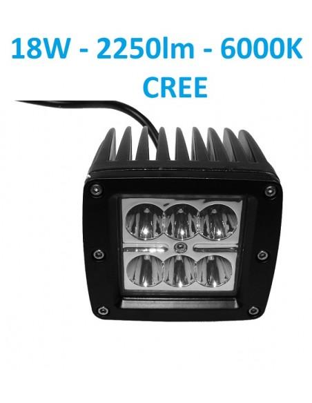 LED darbo žibintas Off road 18W CREE