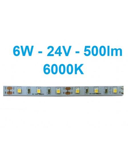 LED juosta Profi - 6W - 24V šaltai balta