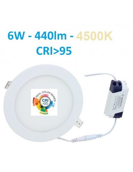 Įleidžiama LED panelė - 6W - 4500K CRI95