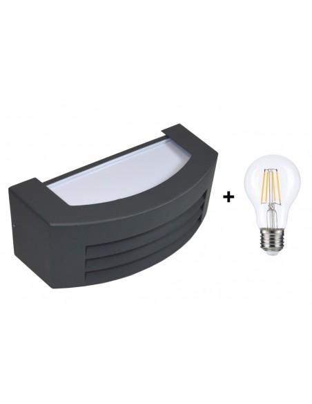 LED lauko šviestuvas - Lumi Alumi Anthracit E27