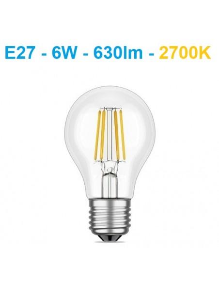 LED lemputė E27 filament - 6W - 630lm