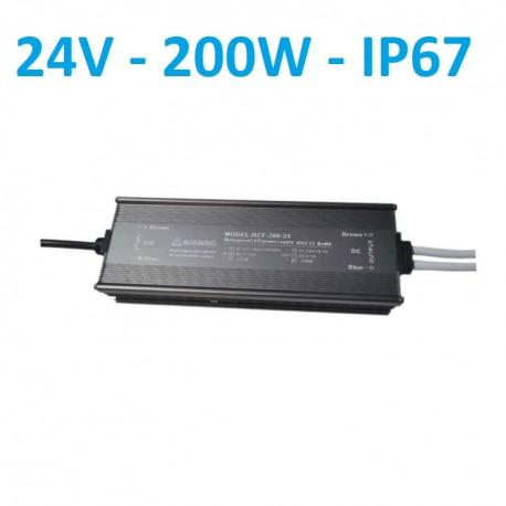 Profesionalus, hermetinis, LED maitinimo šaltinis 24V - 200W - IP67
