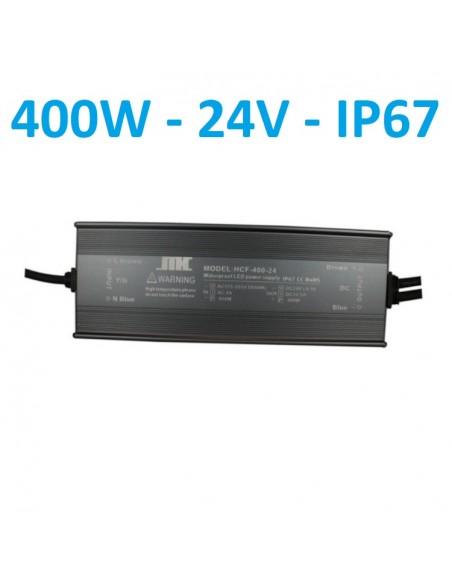 Profesionalus hermetinis LED maitinimo šaltinis 24V - 400W - IP67