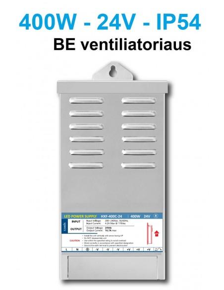 Profesionalus LED maitinimo šaltinis - 24V - 400W be ventiliatoriaus