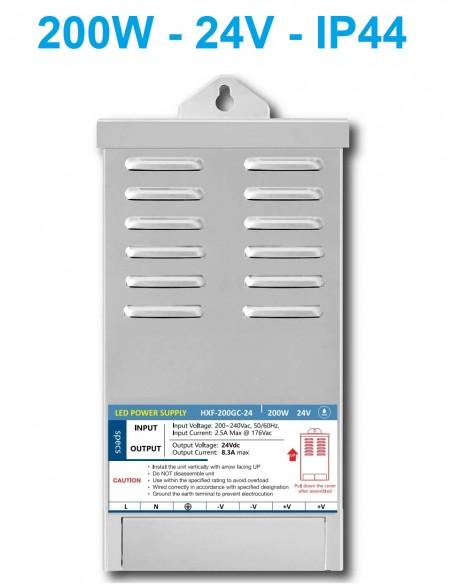 Profesionalus LED maitinimo šaltinis 200W - 24V - IP44