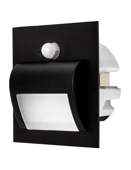 LED laiptu šviestuvas su judesio davikliu - Wally Black 4000K