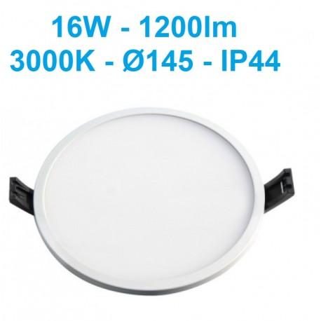 LED panelė siauru rėmeliu IP44 - 16W - 1450lm - IP44 LPSR-16WW-WQ