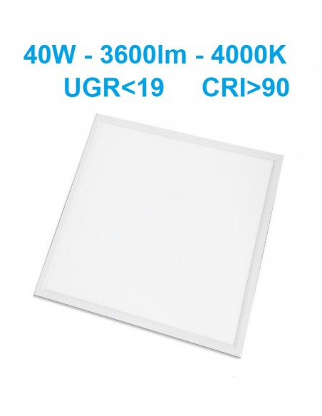 LED panelė 60x60cm - 40W - 4000K - UGR19 CRI90