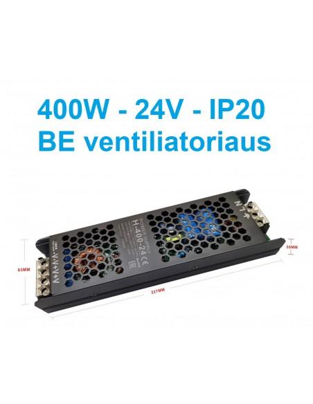 LED maitinimo šaltinis 24V - 400W