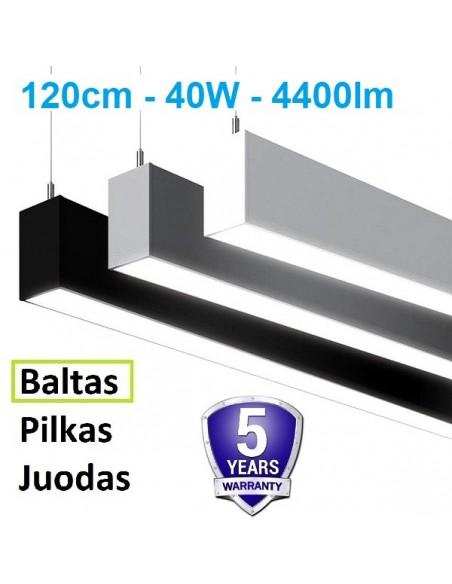Linijinis LED šviestuvas - Linear 120cm 40W - BALTAS