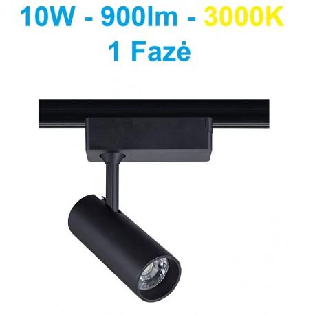 Akcentinis LED šviestuvas 1 fazės - Track 10W juodas - WW