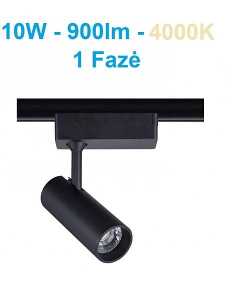Akcentinis LED šviestuvas 1 fazės - Track 10W juodas - DW