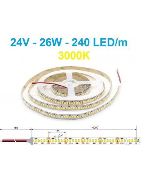 24V LED juosta - 26W - 3000K -240LED