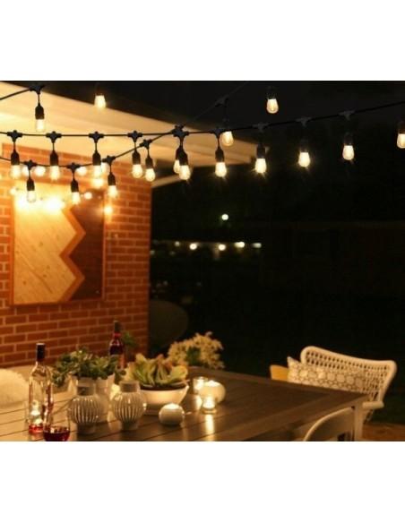 LED lauko girlianda E27 - 10 metrų su 2W LED lemputėmis