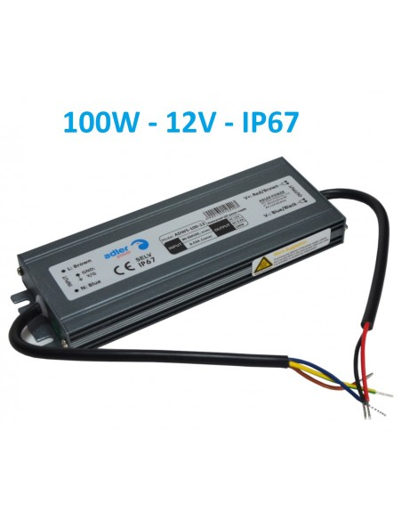 Profesionalus LED maitinimo šaltinis SLIM 12V - 100W - IP67