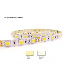 LED juostelė 5050 - 14,4W/m - IP20