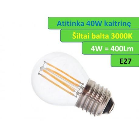LED lemputė E27 - 4W - 400lm-G45