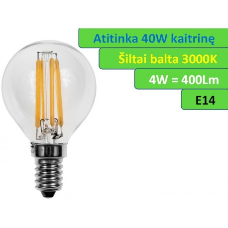 LED lemputė E14 - 4W - 400lm